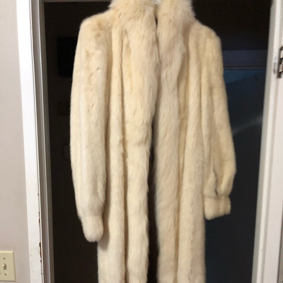 Jackets & Blazers - Shadow mink trimmed with white fox